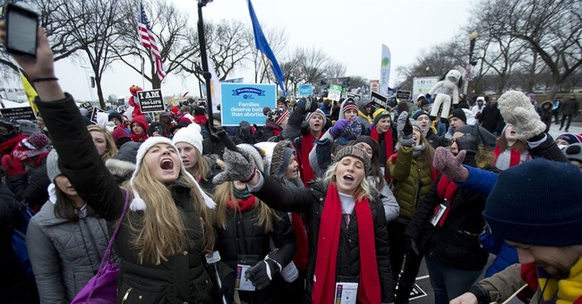Impending Blizzard Didn't Stop Thousands From Marching For Life