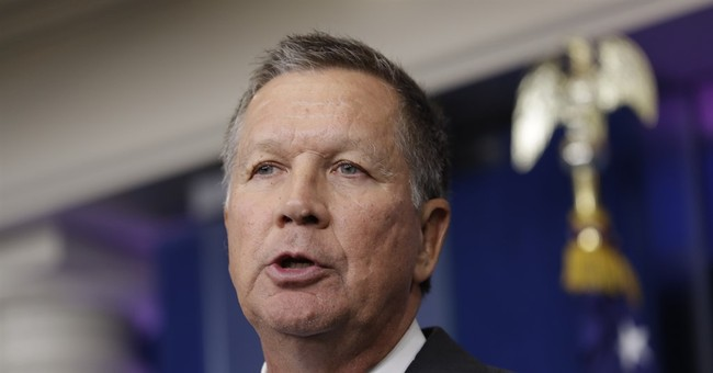 So, John Kasich Showed Up at The White House Press Briefing Today