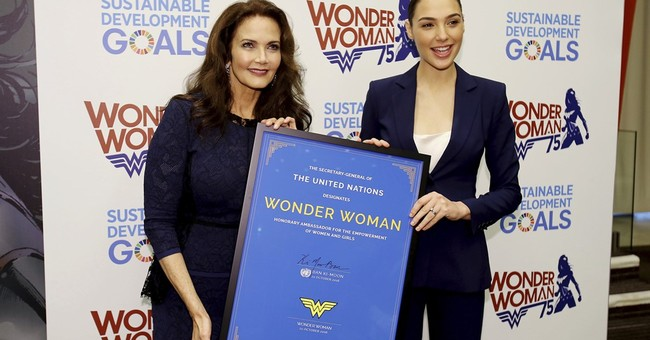 As the World Burns, the U.N. Worships Wonder Woman