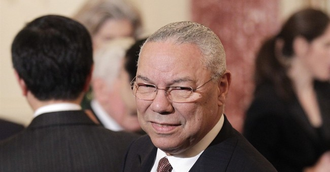 Man who lost leg in Afghanistan helps Colin Powell change flat tire