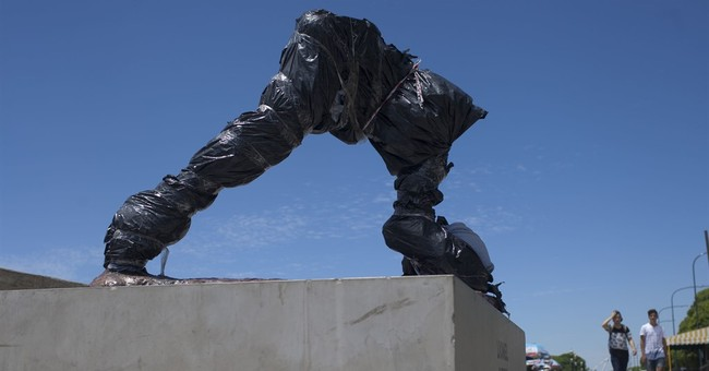Messi statue in Argentina vandalized; torso, head sliced off