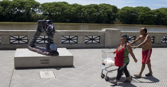 Messi statue in Argentina vandalized; torso, head sliced off