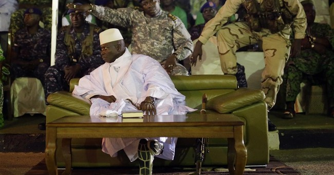 Nigerian legislators OK offering asylum to Gambia leader