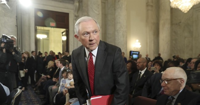 The Latest: Sessions defends award from think tank