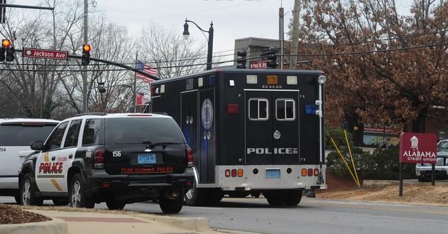 Hostages 'fine,' suspect arrested near University of Alabama