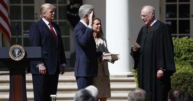 Gorsuch sworn into Supreme Court, restores conservative tilt