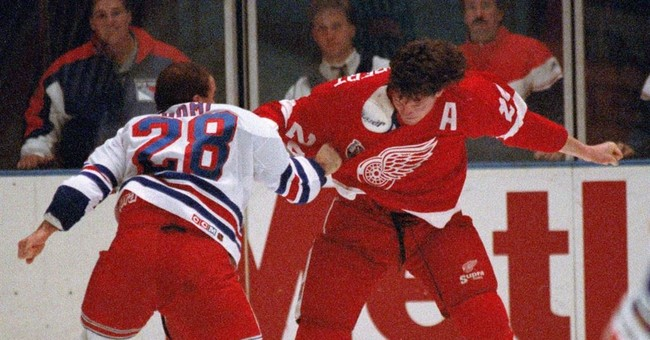 Ashes of late NHL enforcer Bob Probert spread in penalty box