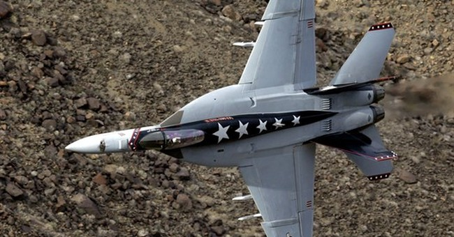 AP PHOTOS: Jet pilots put on thrilling show at remote canyon