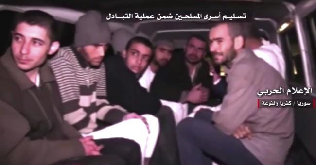 Besieged Syria towns evacuated as regime and rebels begin huge people swap