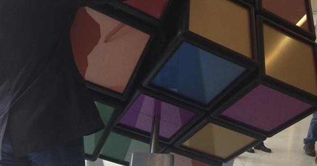 University of Michigan unveils 1,500-pound Rubik's Cube