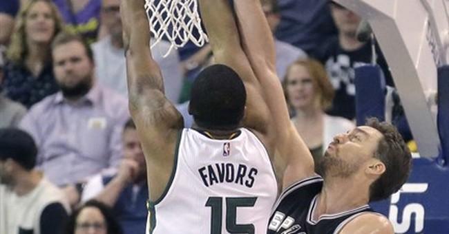 Hayward scores 14, Jazz beat Spurs 101-97
