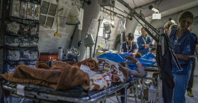 Clinic outside Mosul treats those with gravest injuries