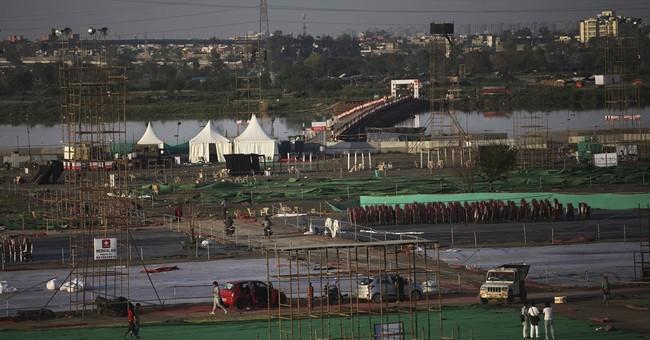 Indian green watchdog: Festival massively damaged river bank
