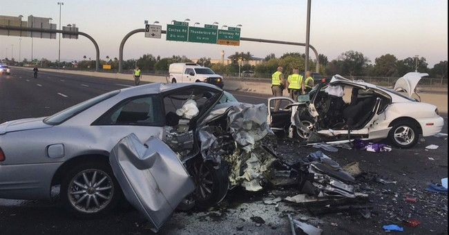 Wrong-way crash kills 3 in Phoenix