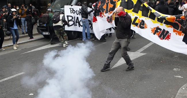 Hundreds march against far-right French presidential hopeful