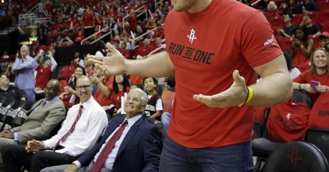 J.J. Watt huge fan of Rockets guard Patrick Beverley