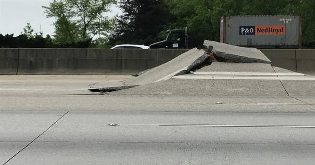 All lanes reopened after major highway buckled, broke apart