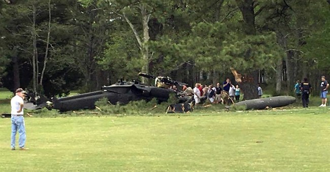 Army helicopter crashes into golf course; 1 dead, 2 injured