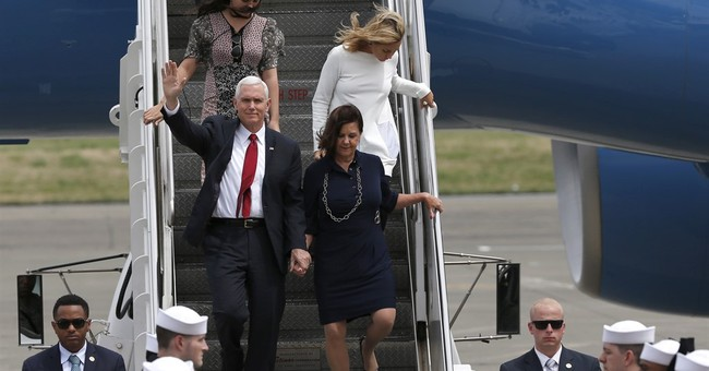 The Latest: Pence to visit mosque in Indonesian capital