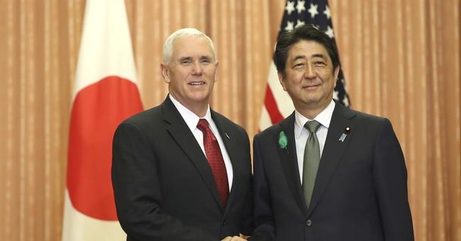 The Latest: Pence, Japanese leaders begin talks in Tokyo