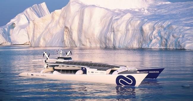 Zero-emission boat prepares for round-the-world odyssey