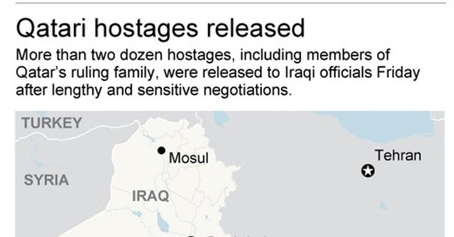 Delicate bargain frees 26 hostages, including Qatar royals
