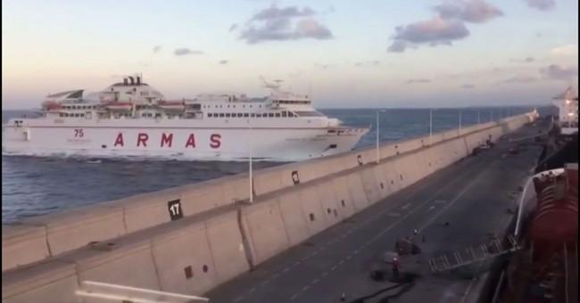 Ferry slams into breakwater in Canary Islands, 13 injured