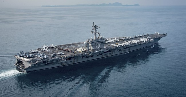 US carrier heading for Korea trains with Japanese destroyers