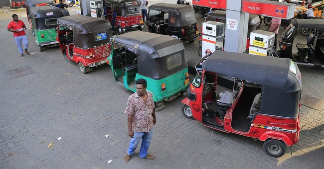 Oil workers' strike triggers gasoline lines in Sri Lanka