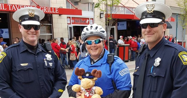 Toy given to police officer as safety talisman gets to Ohio