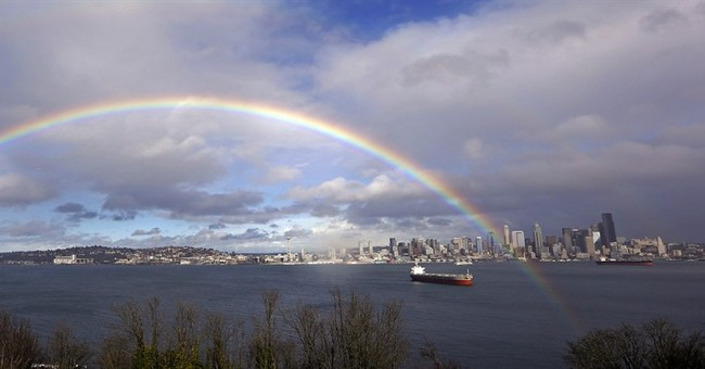 Seattle crushes rain record, while rival Portland wet too
