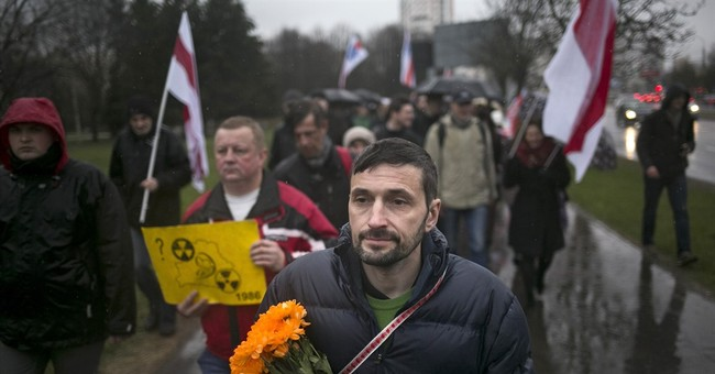 Belarus march against nuclear power on Chernobyl anniversary