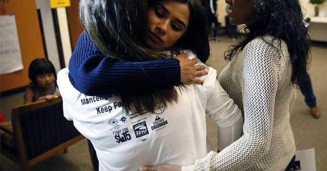 Actor Diane Guerrero meets immigrant taking refuge in church