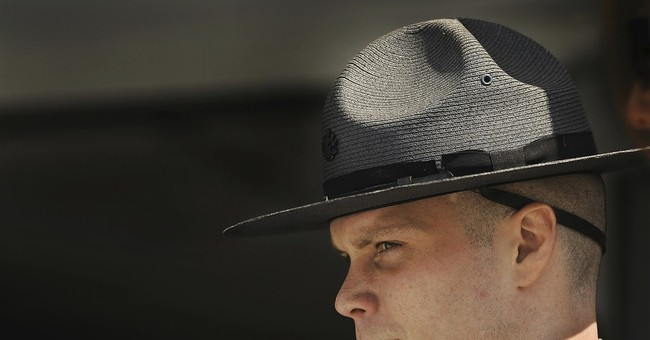 Slain trooper's young sons in court as killer gets death