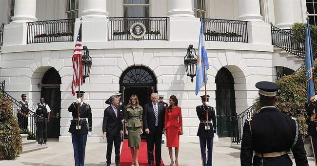 Trump, Argentine President Macri hold White House talks