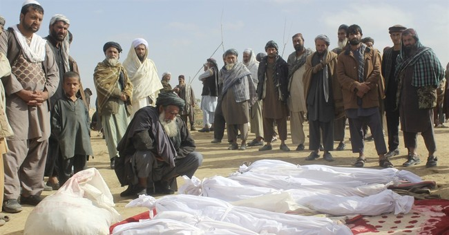 US military: November fight with Taliban killed 33 civilians