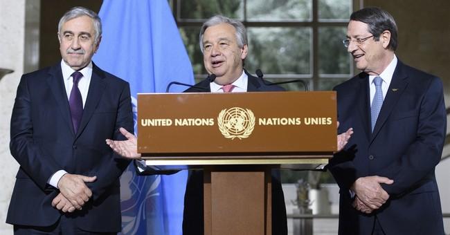 Official: Cyprus security talks break, resume after Jan. 18