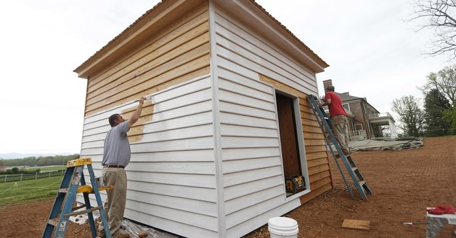 AP PHOTOS: Slave quarters rebuilt at Madison's Montpelier