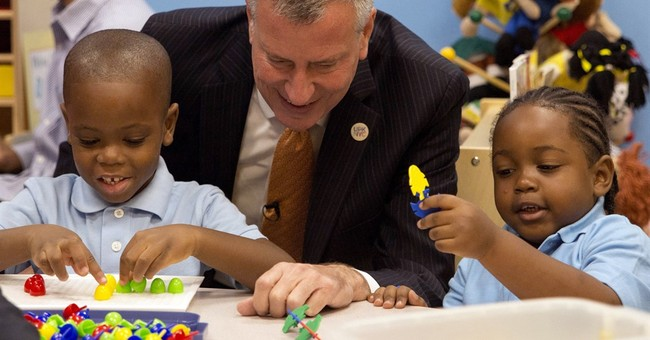 NYC mayor announces plan for free preschool for 3-year-olds