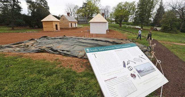 AP PHOTOS: Slave quarters rebuilt at Madison's Montpelier