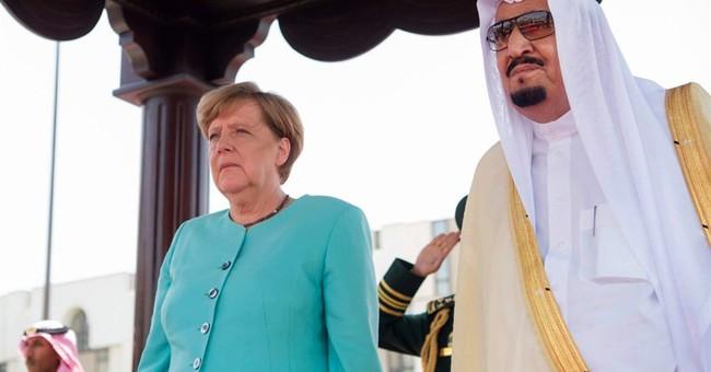 Germany's Merkel presses Saudi Arabia on refugees and rights