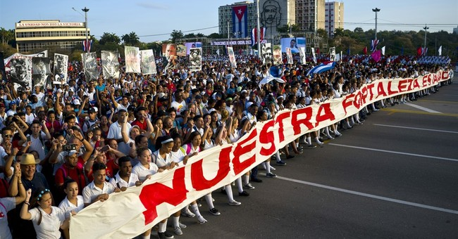 Protester disrupts start of Cuba's annual May Day parade