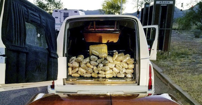 67 pounds of marijuana found in casket at Arizona checkpoint