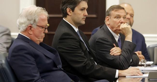 The Latest: Scott family says plea represents justice