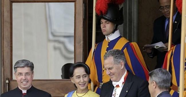 Vatican, Myanmar establish relations as Suu Kyi visits