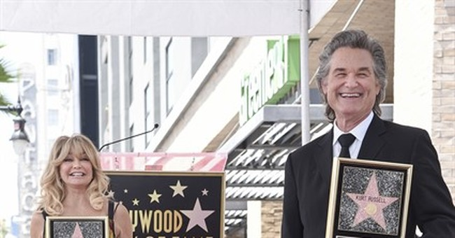 Partners Goldie Hawn, Kurt Russell get Walk of Fame stars