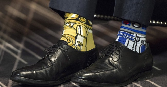 Canada's Trudeau sports Star Wars socks on May the 4th