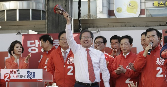 S. Korean conservative eyes upset in presidential vote