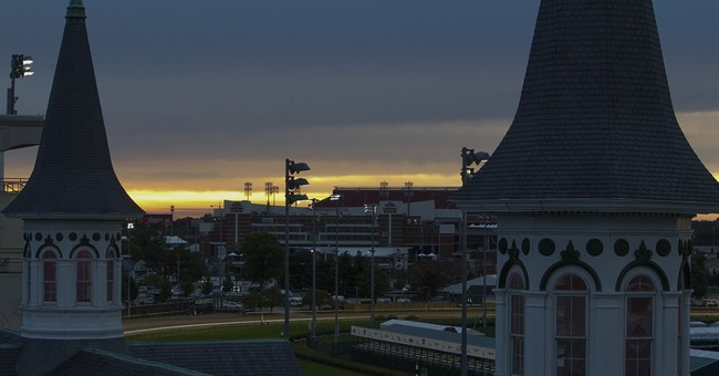 Kentucky Derby day begins in cold and wet conditions