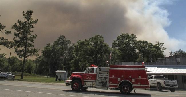 Crews working to box in wildfire near Georgia-Florida line
